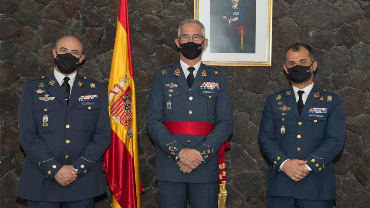 El coronel Teruel toma posesión como jefe del Aeródromo Militar de Lanzarote.