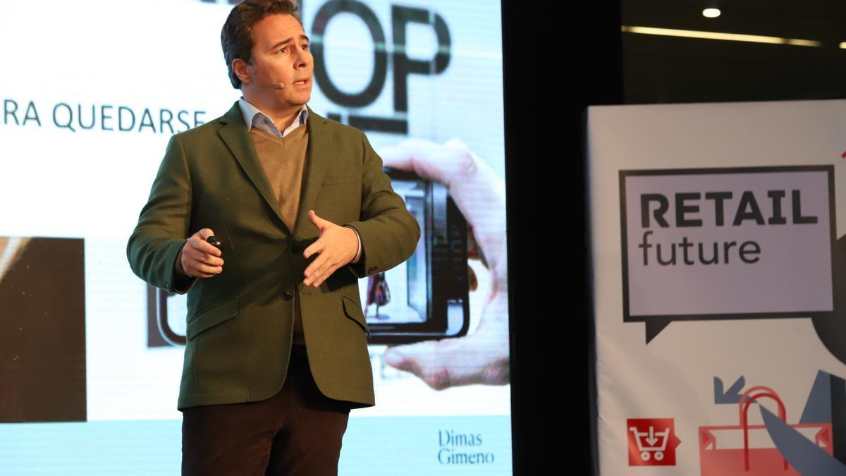 Dimas Gimeno, en su intervención en Retail Future.