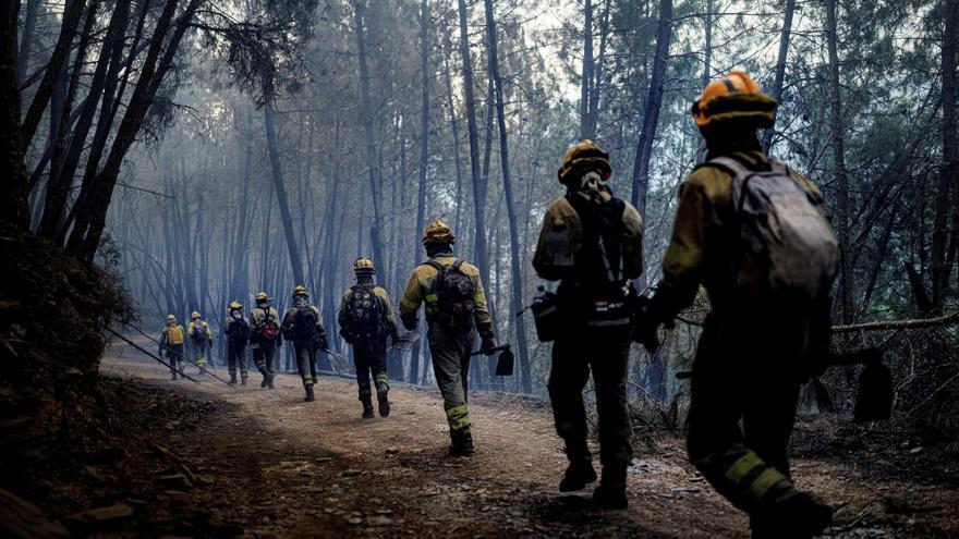 Los incendios en Ribas de Sil, controlados tras arrasar más de 1.700 hectáreas en la Ribeira Sacra
