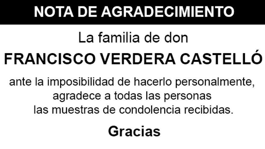 Nota Francisco Verdera Castelló