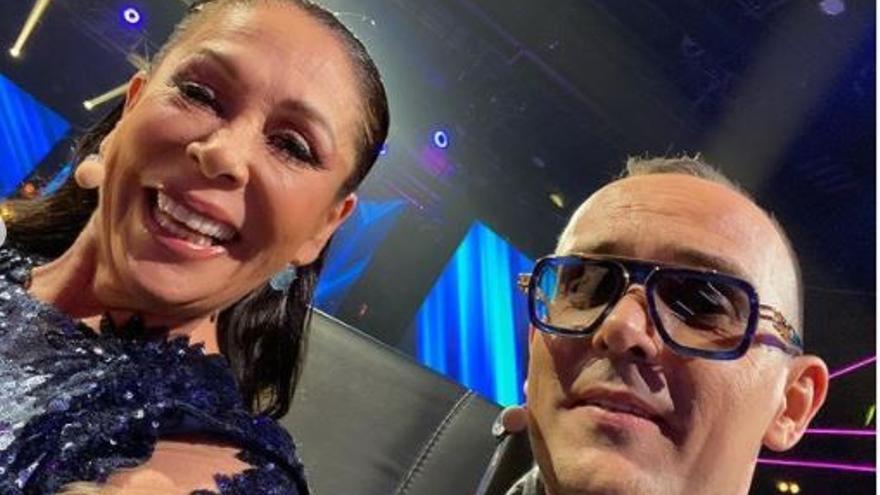 Risto comparte la primera fotografía de Isabel Pantoja en las grabaciones de 'Top Star'