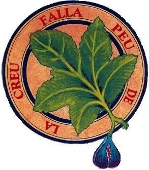 Pie de la Cruz, con la hoja de higuera que recuerda una histórica falla allí plantada.