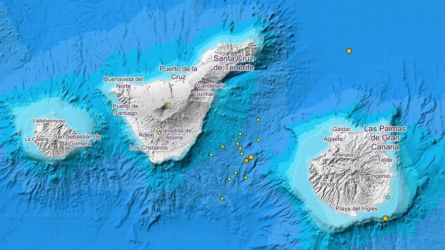 Graban ondas sísmicas viajando entre Tenerife y Gran Canaria