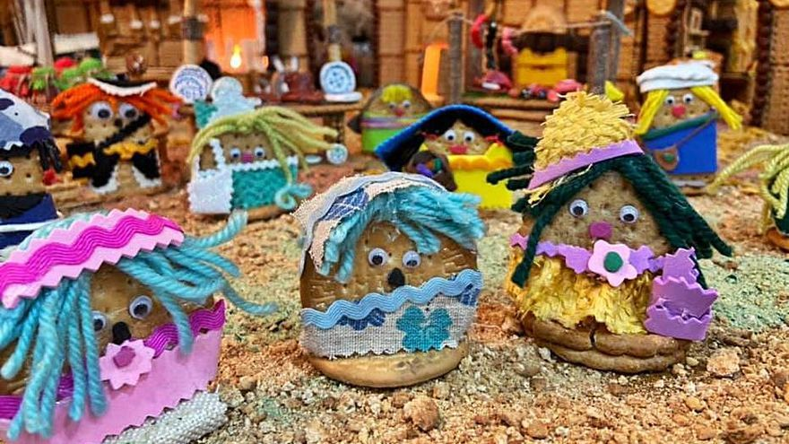 Belén de galletas en Sant Valerià