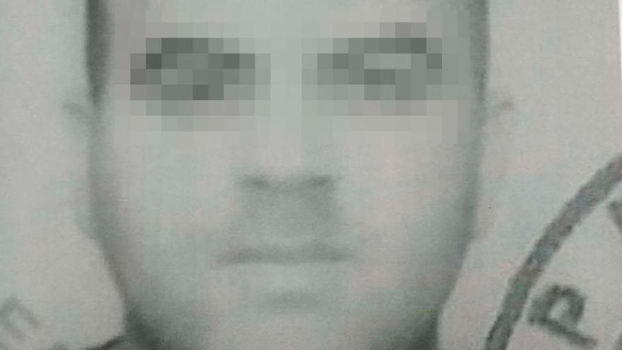 Imagen del detenido en Mombuey por la Guardia Civil.