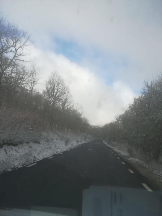La carretera de Porto, libre de nieve.