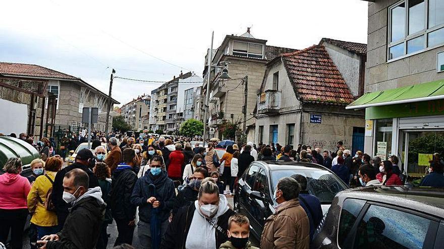 Moaña exige en la calle consultas presenciales y anuncia movilizaciones semanales