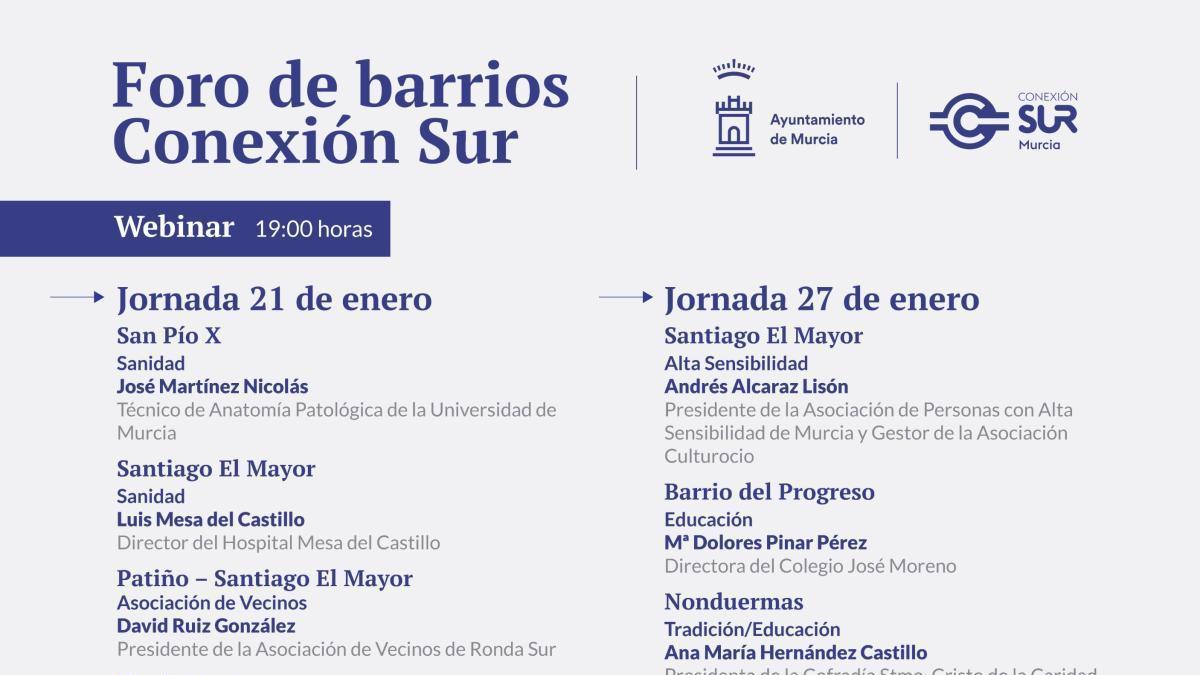 El proyecto Conexión Sur abordará las expropiaciones en su Foro de Barrios