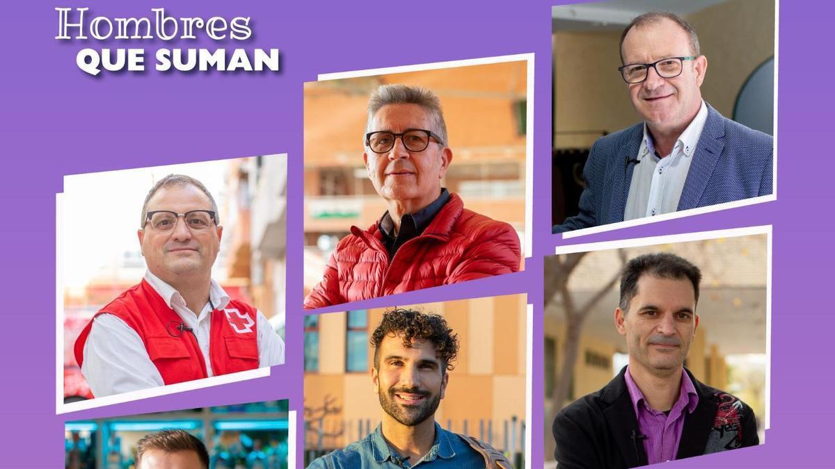 """Campaña """"Hombres que suman"""" del Ayuntamiento de Elda."""