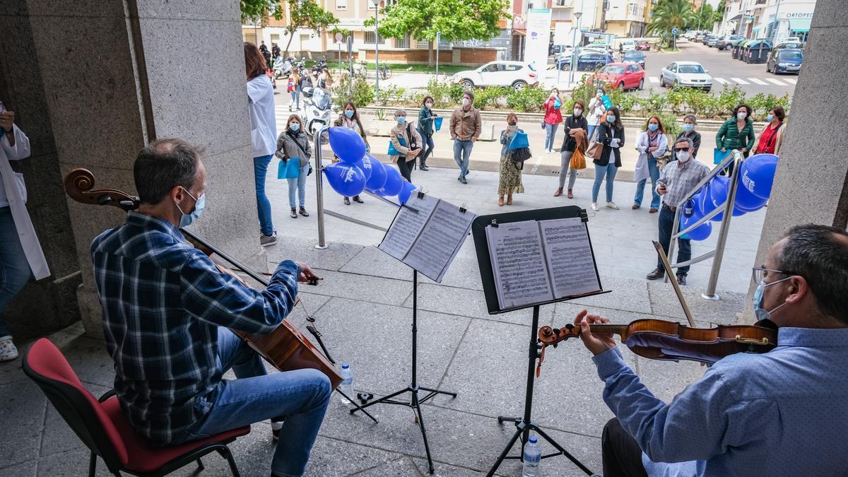 Uno de los actos celebrado en Badajoz con motivo del día de la enfermería.
