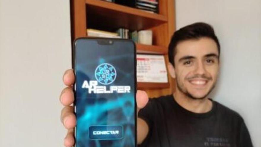 Un alumno de la UPCT desarrolla una aplicación que permite la asistencia remota a través de realidad aumentada