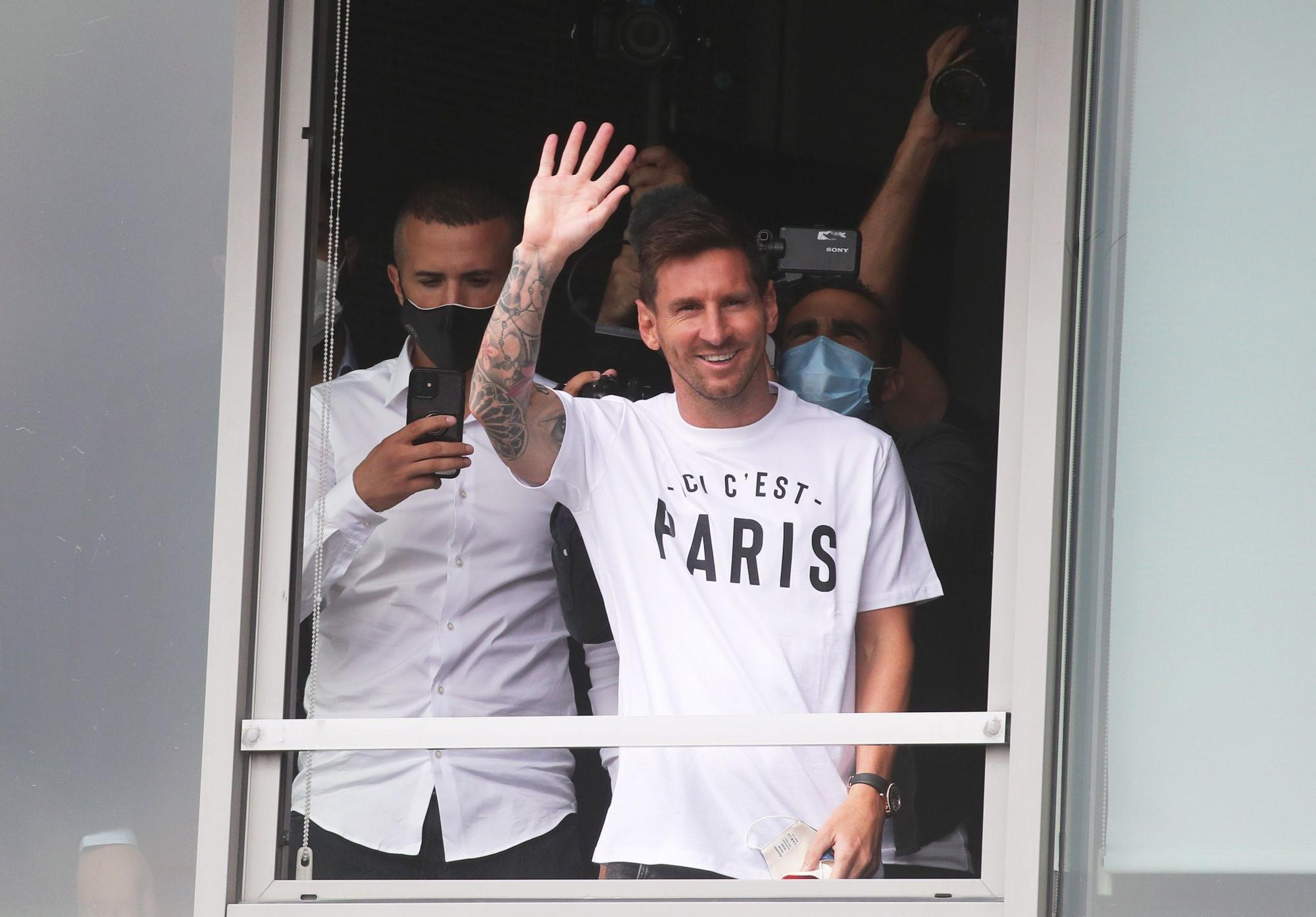 Messi arriba a París