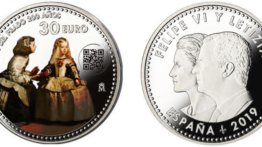 Una moneda conmemora el Bicentenario del Museo del Prado con 'Las Meninas'