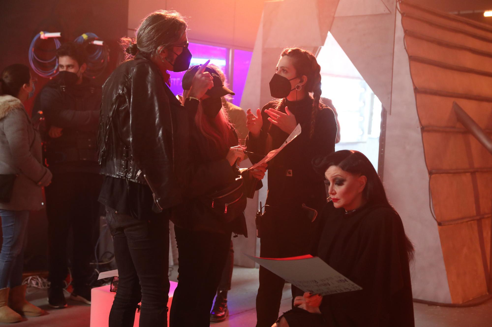 GALERÍA | Así fue el rodaje del nuevo vídeoclip de Fangoria con la zamorana Lucía Muriel al frente