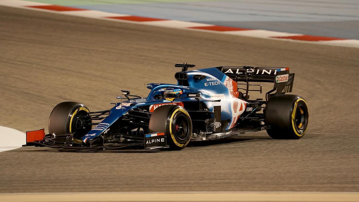 Fernando Alonso, in Bahrain.