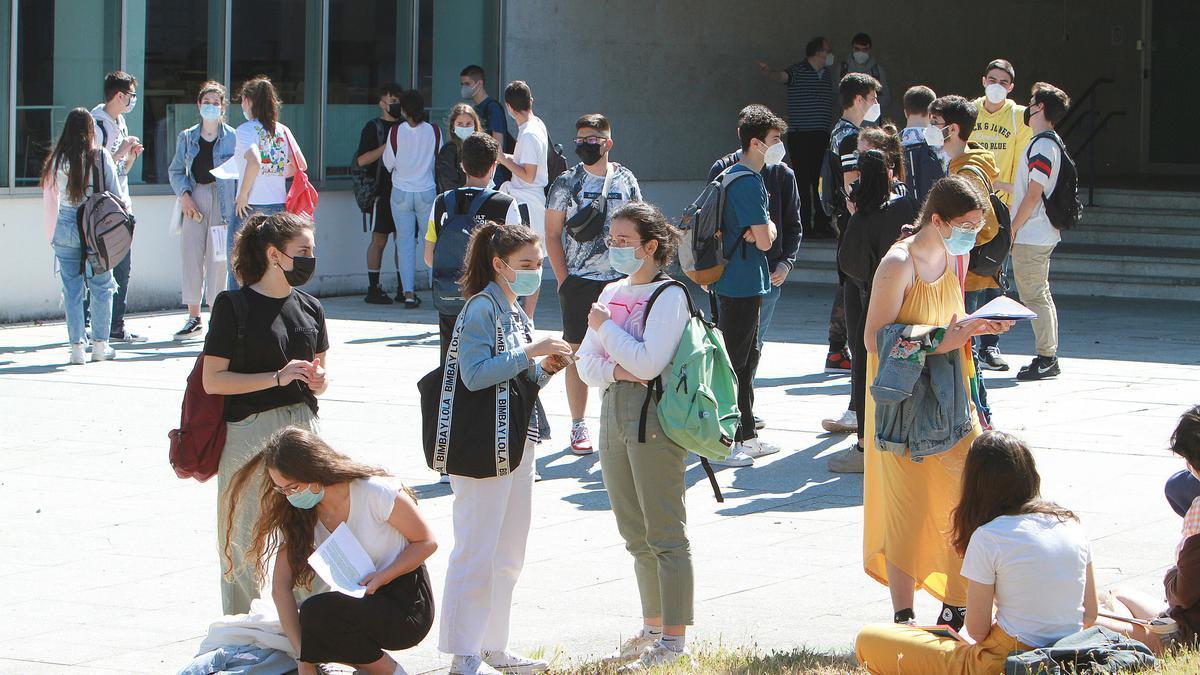 Estudiantes universitarios en esta selectividad. /Iñaki Osorio
