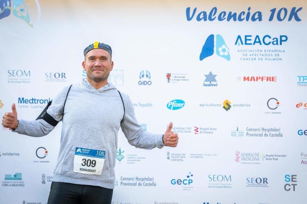 I Carrera de la Asociación Española de Afectados de Cáncer de Pulmón, en València