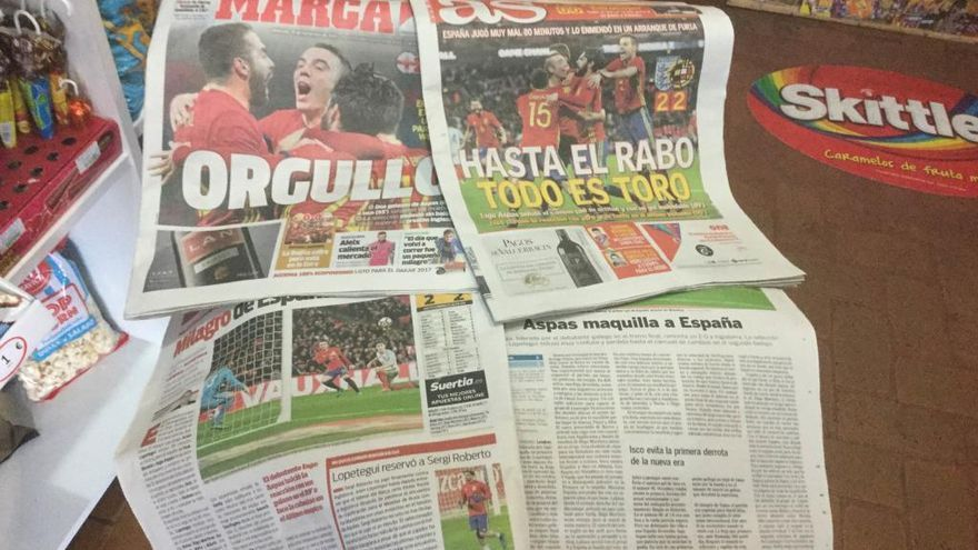 La prensa española se rinde a Iago Aspas