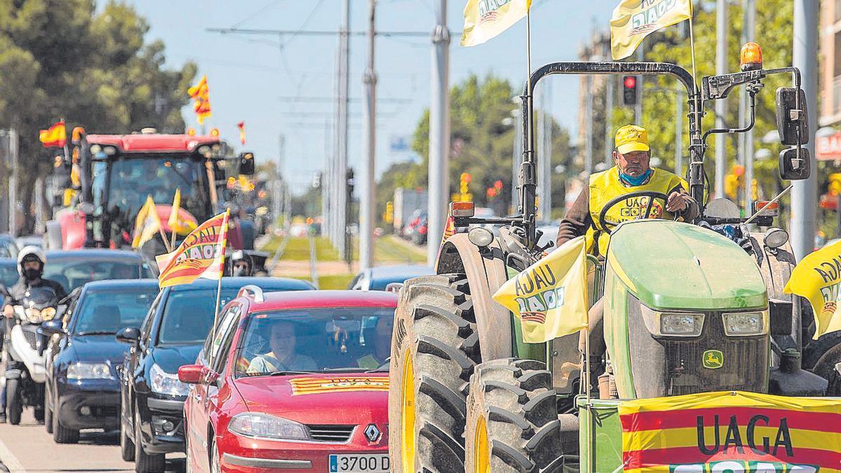 Tractorada que recorrió las calles de Zaragoza el pasado mes de mayo
