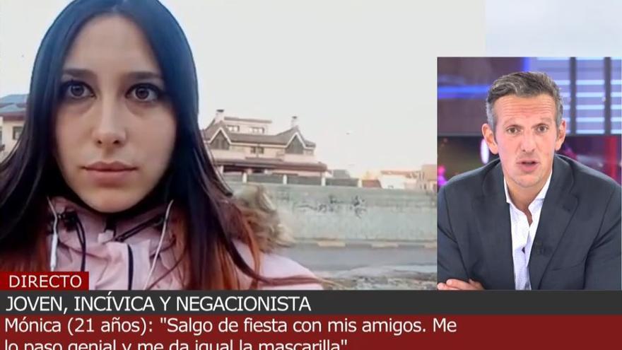 """Mónica, la joven que sale de fiesta todos los días sin mascarilla: """"Los jóvenes tenemos derecho a divertirnos"""""""