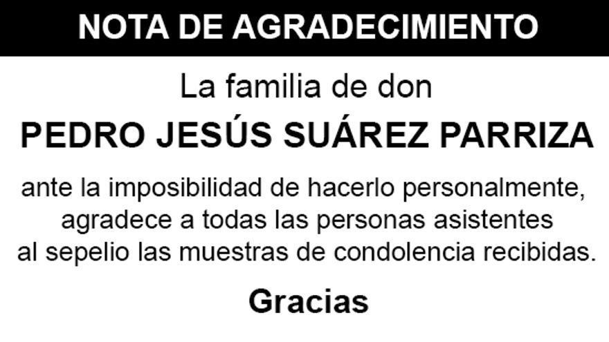 Nota Pedro Jesús Suárez Parriza