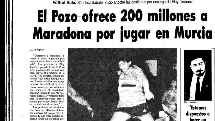 El Pozo quiso fichar a Maradona por 200 millones de pesetas