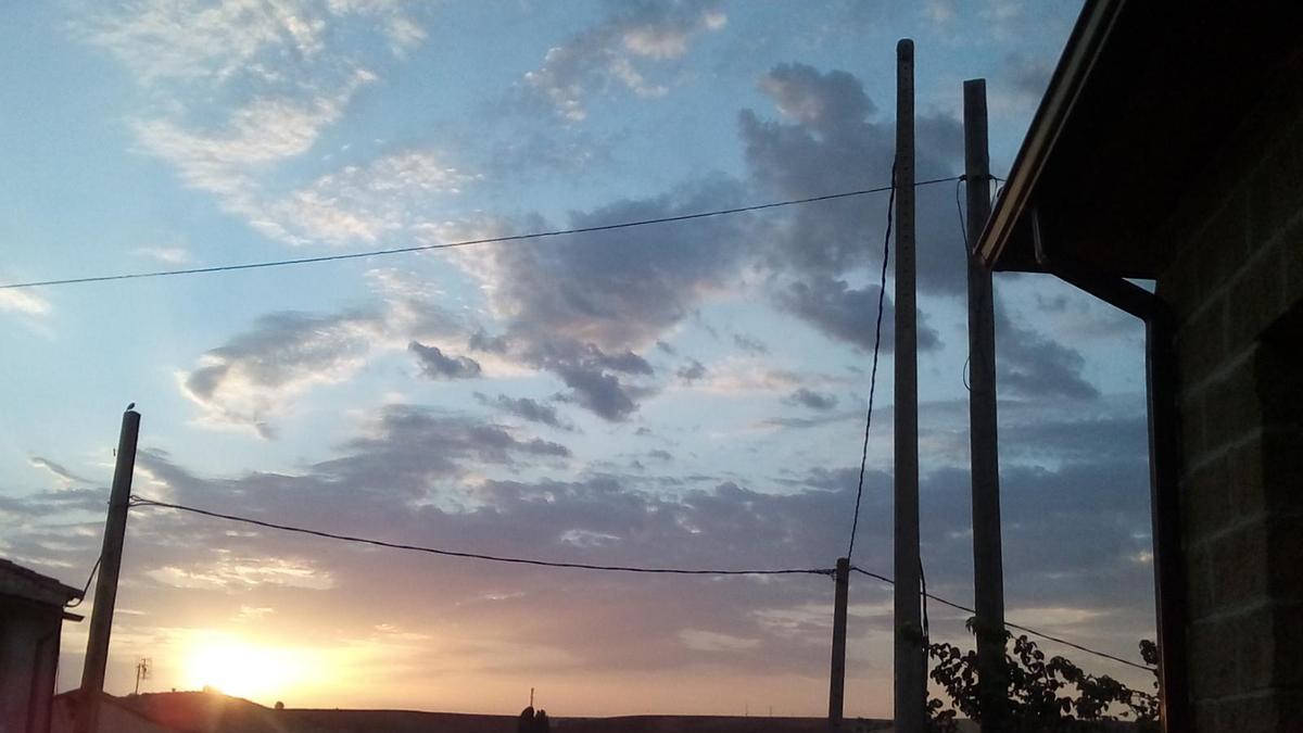 El cielo de la provincia de Zamora, esta mañana de martes.