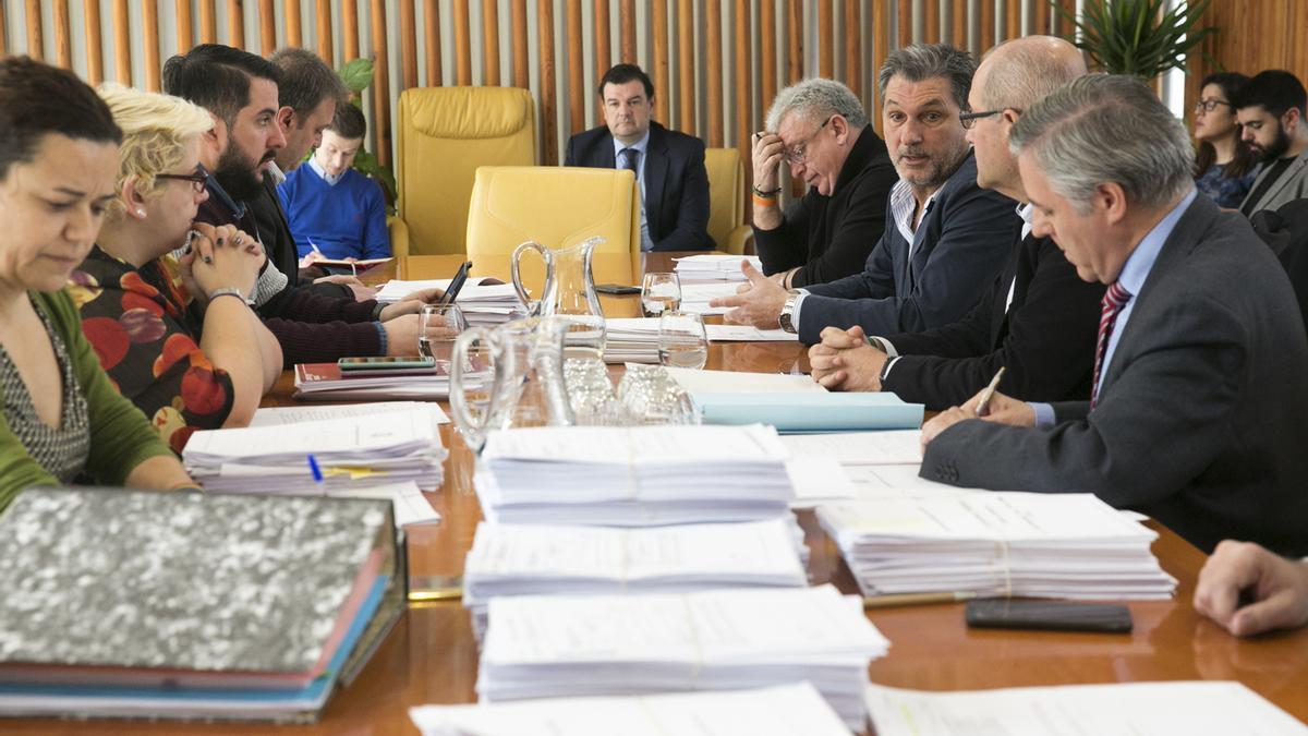 Una sesión de la comisión de investigación de este servicio.
