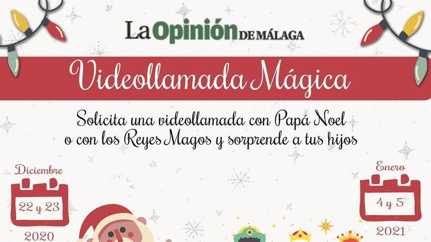 La Opinión de Málaga te trae a Papá Noel y los Reyes Magos con 'la videollamada mágica'