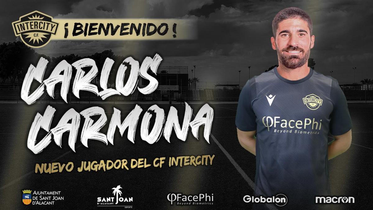 Carmona, en el anuncio de su fichaje por el Intercity