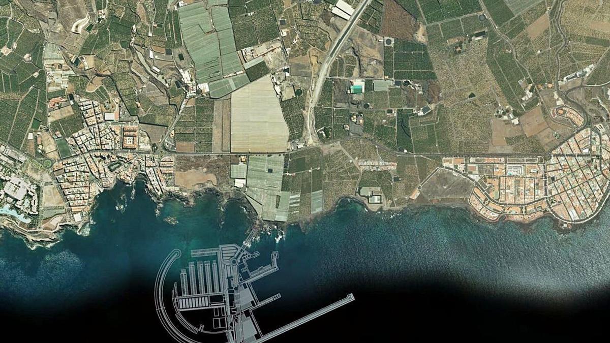 Infagrafía del puerto de Fonsalía.