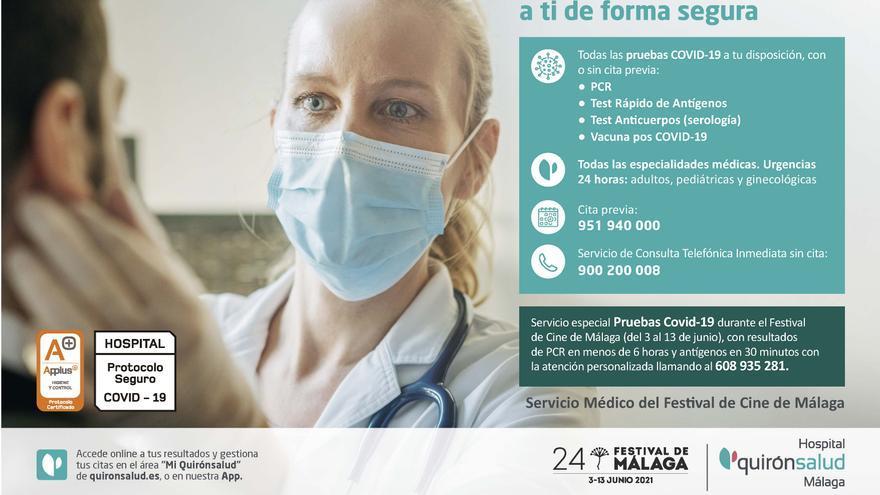 Quirónsalud Málaga, servicio médico del Festival de Málaga por décimo año consecutivo