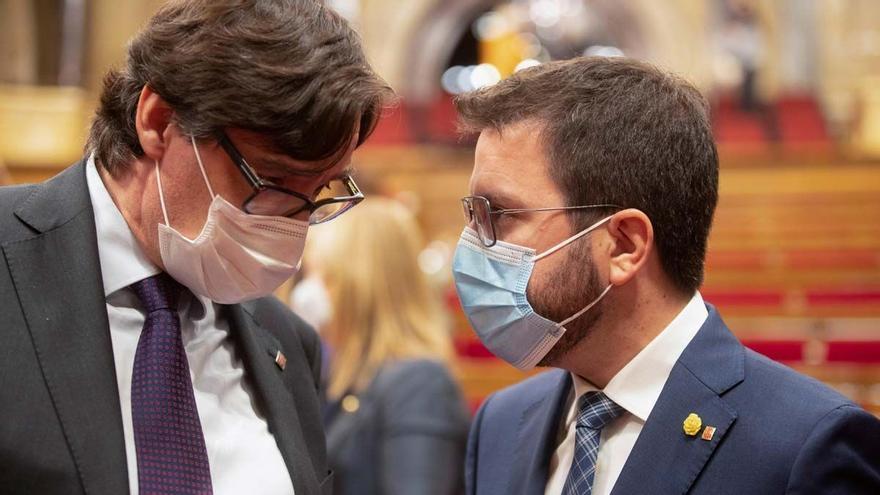 La oposición suspende a Aragonès por la falta de presupuestos y de un plan de choque social