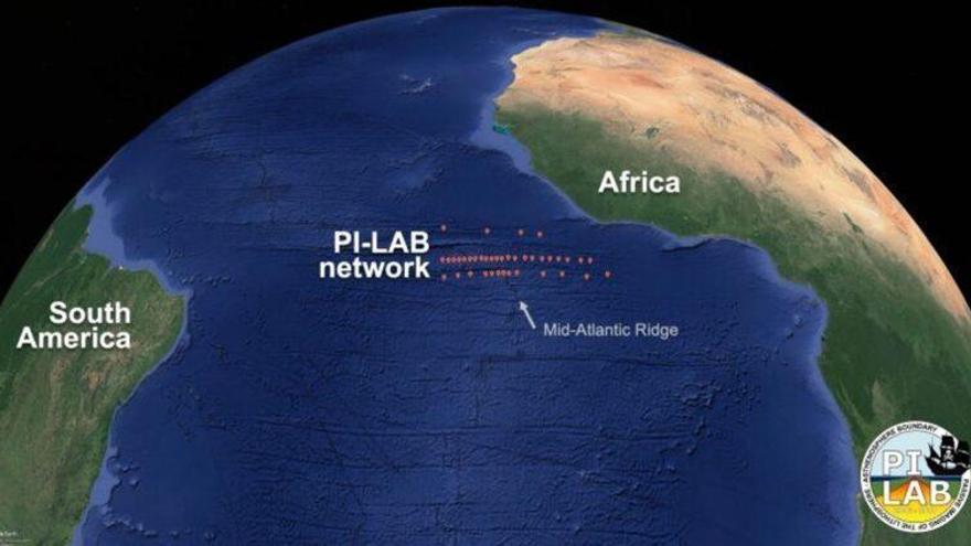 El océano Atlántico se está ensanchando