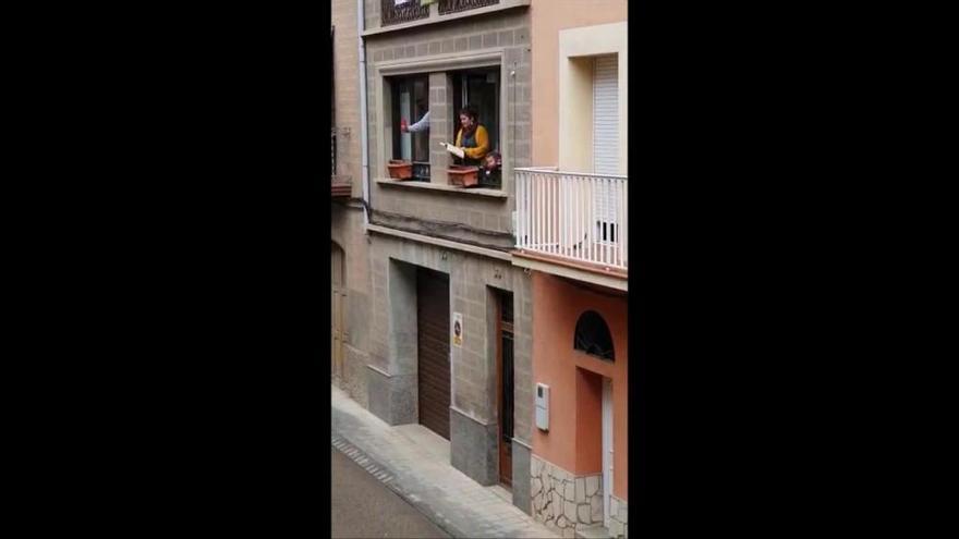Àries des de la finestra al centre de Sallent