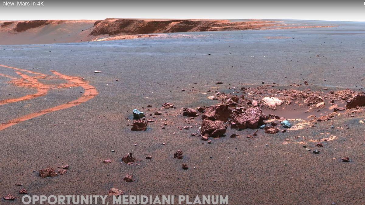 Un vídeo de Marte a partir de imágenes en 4K: así es la superficie marciana.