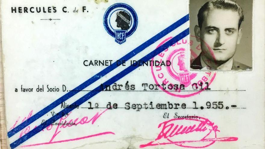 Muere a los 91 años Andrés Tortosa Gil, socio número 8 del Hércules