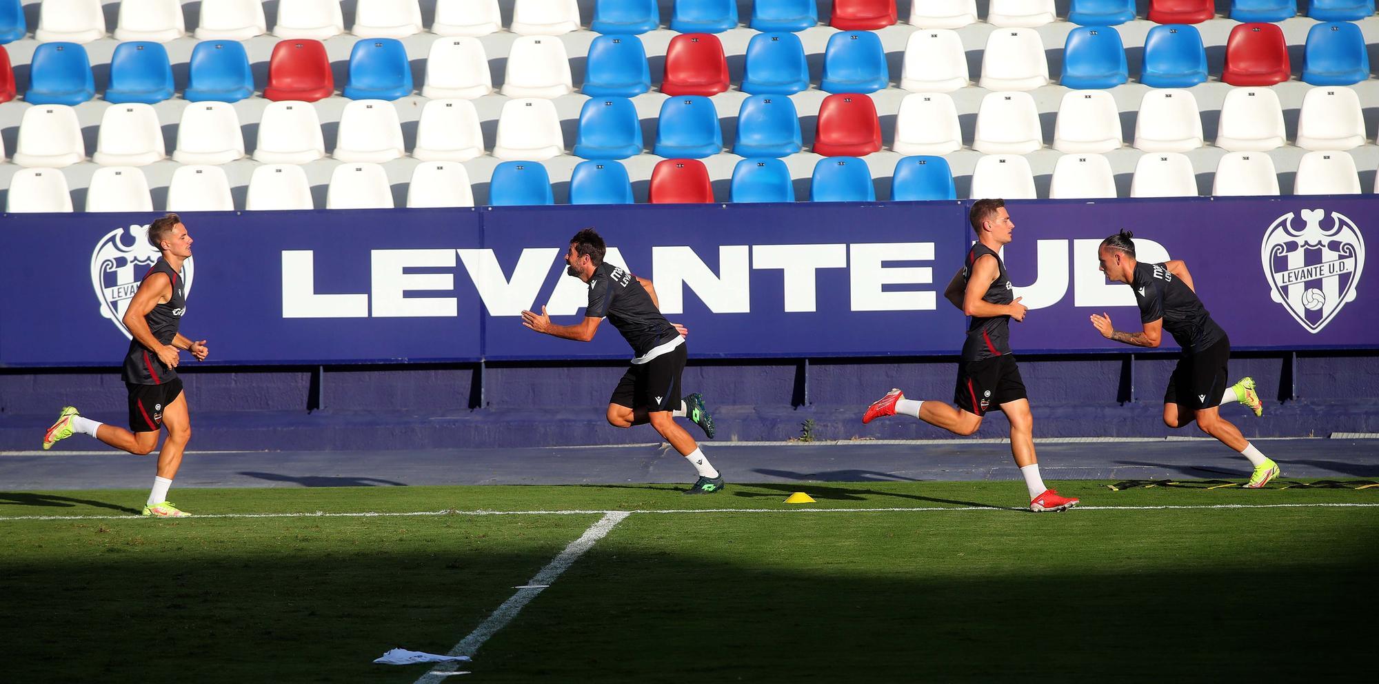 Así ha sido el entrenamiento de hoy del Levante UD