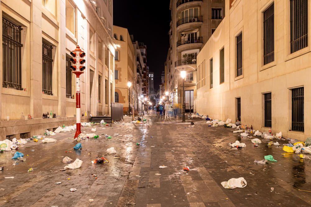 El centro de Alicante, tras el Carnaval