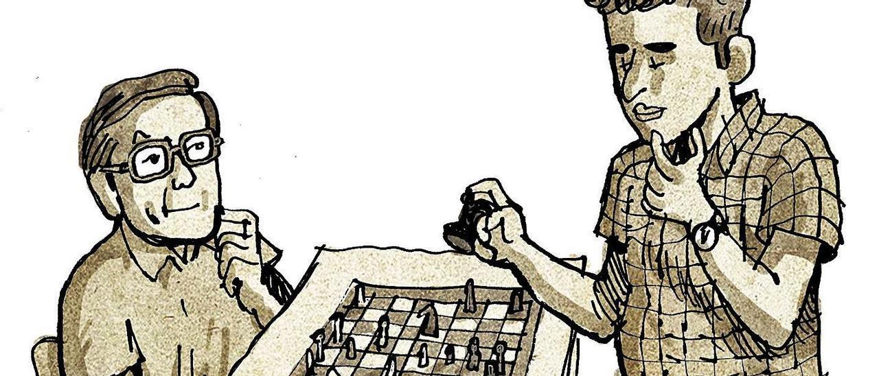 De cómo el ajedrecista Boris Spassky llegó a jugar en Mieres