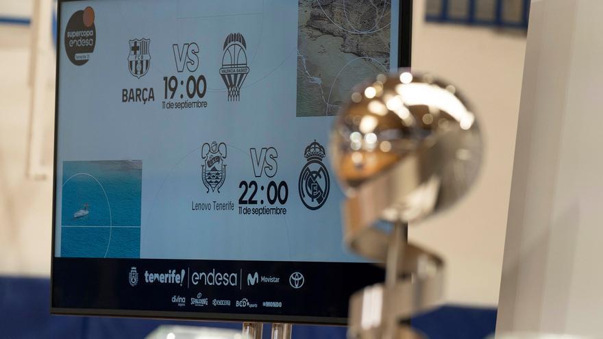 Barça-Valencia y Lenovo Tenerife-Real Madrid, en semifinales de la Supercopa