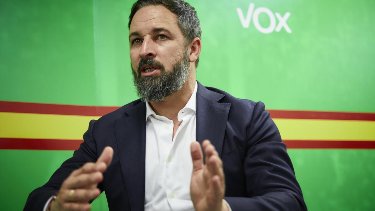 Vox registrará este martes su moción de censura contra Pedro Sánchez