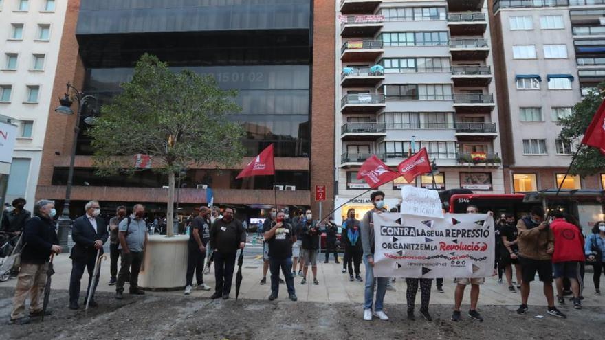 Concentración 'Solidaritat amb Vallekas' en València