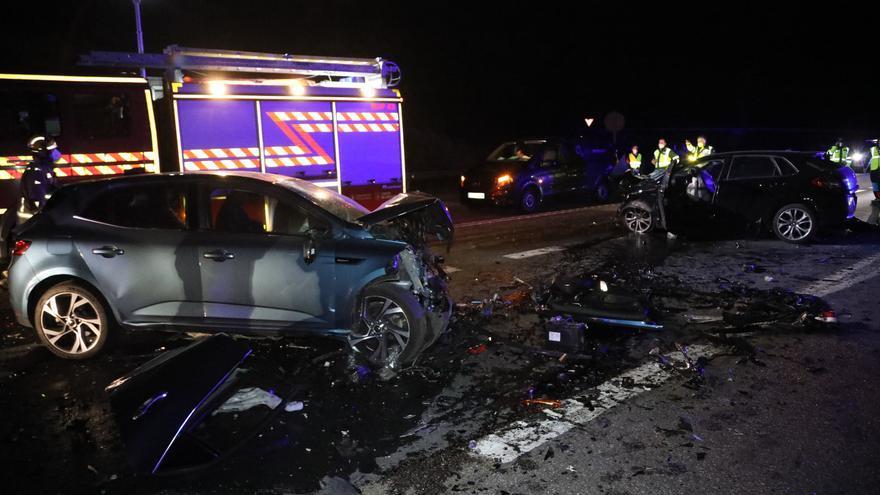 Accidente mortal en Salceda: Así quedaron los coches siniestrados
