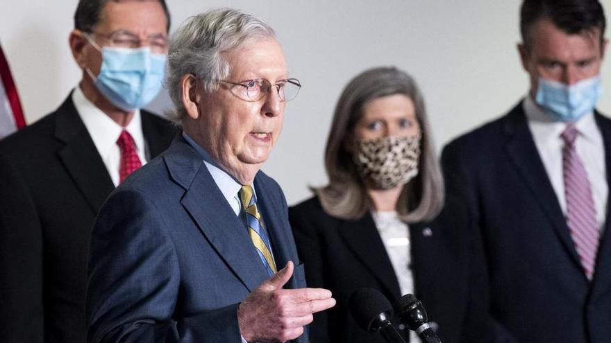 Los republicanos bloquean en el Senado la subida de las ayudas del plan contra el covid