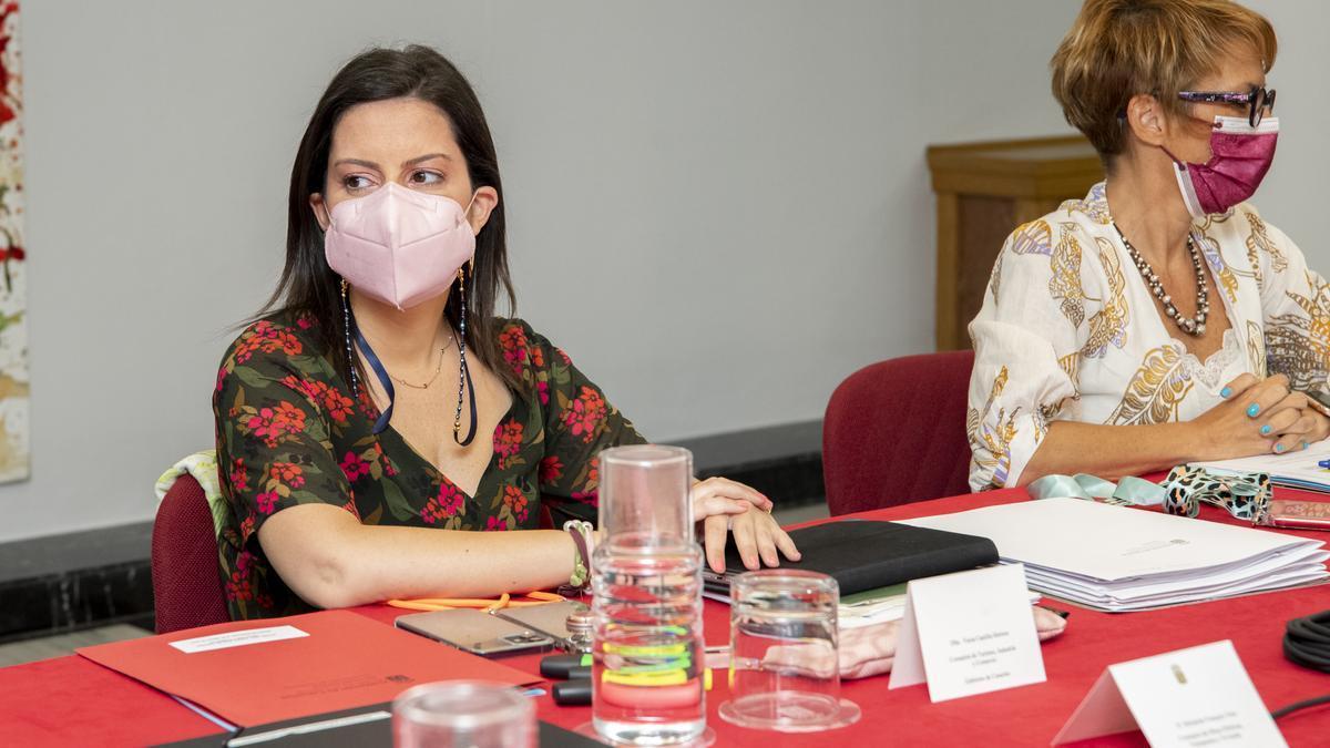 Yaiza Castilla en el consejo de Gobierno de ayer.