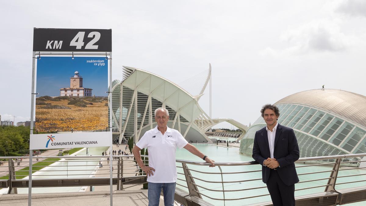 Paco Borao y Francesc Colomer presentan el acuerdo entre Maratón Valencia y Turisme