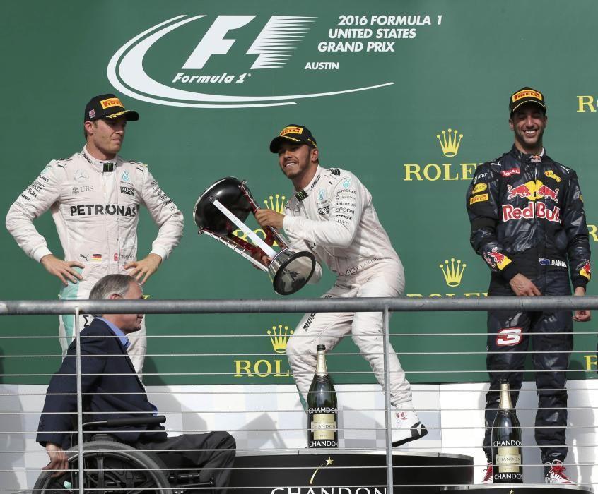 La remontada de Hamilton comenzó en Estados Unidos, donde Rosberg no quiso correr riesgos y se conformó con ser segundo.