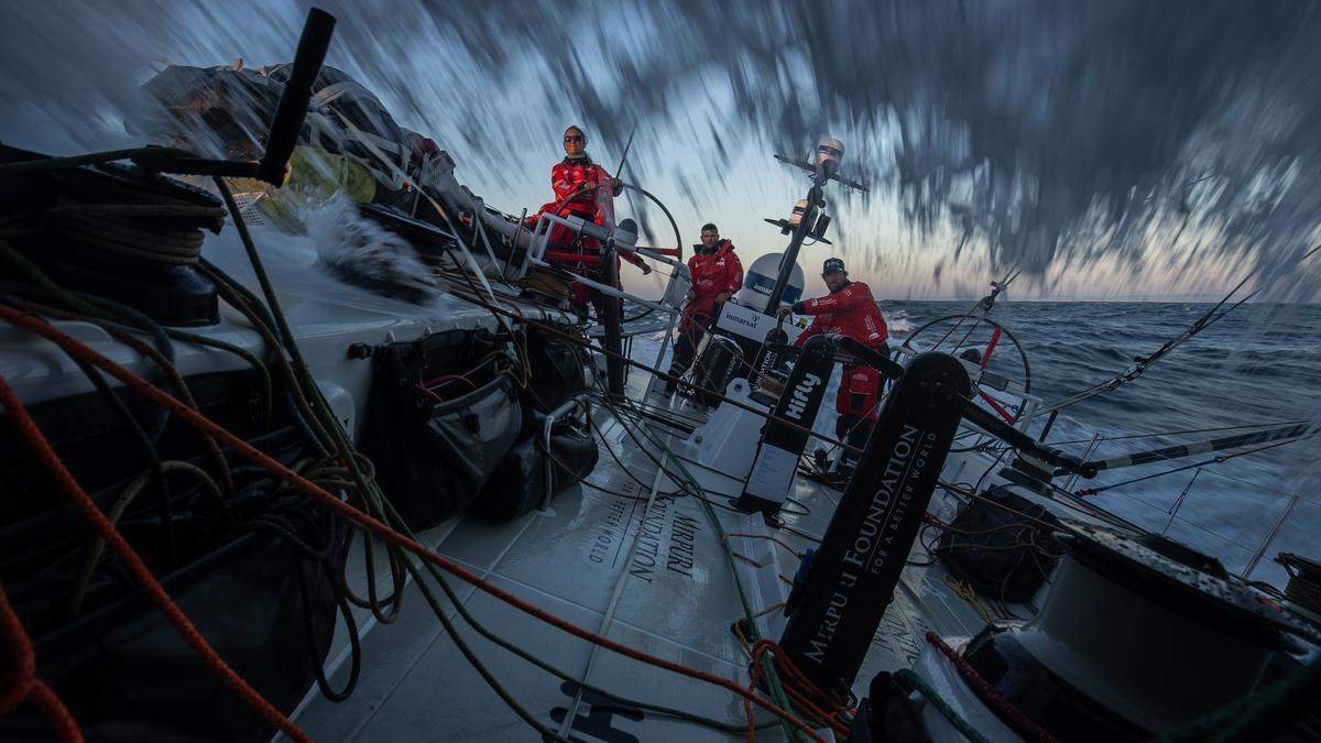 Una vez superada la longitud del Cabo Finisterre, las tripulaciones han disfrutado de una navegación sin apenas maniobras