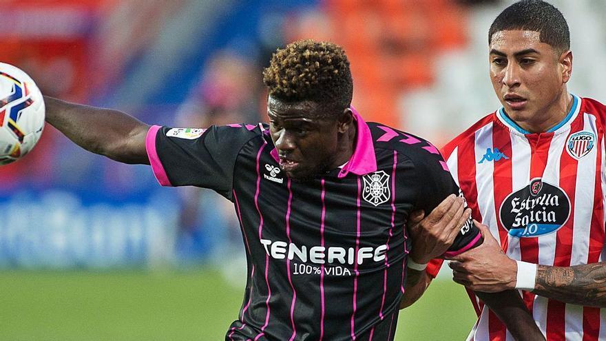 Emmanuel Apeh ha jugado todos los partidos de Liga dirigidos por Ramis, los cuatro últimos como titular. | | LOF